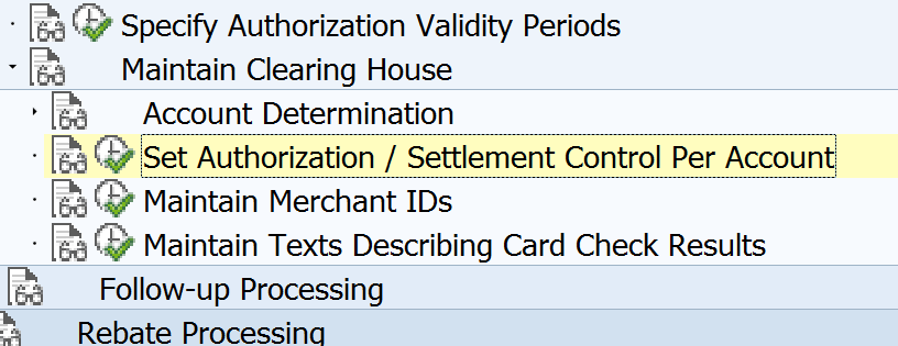 Clearing House Authorization / Settlement