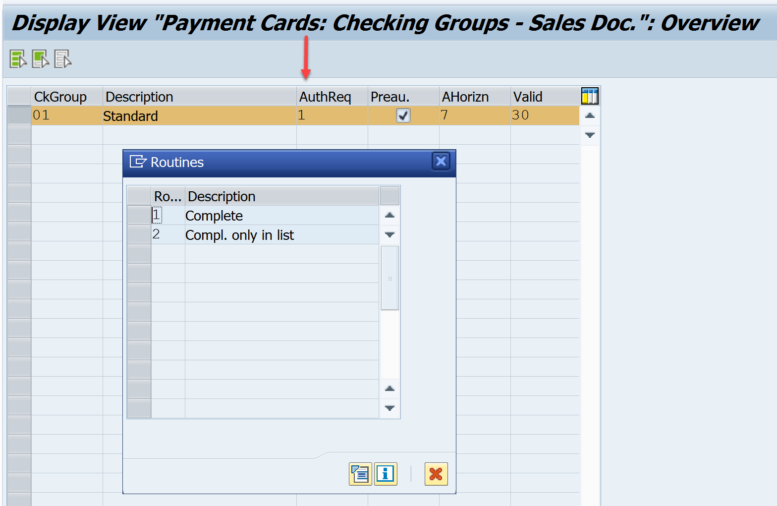 Payment Card Checking Groups